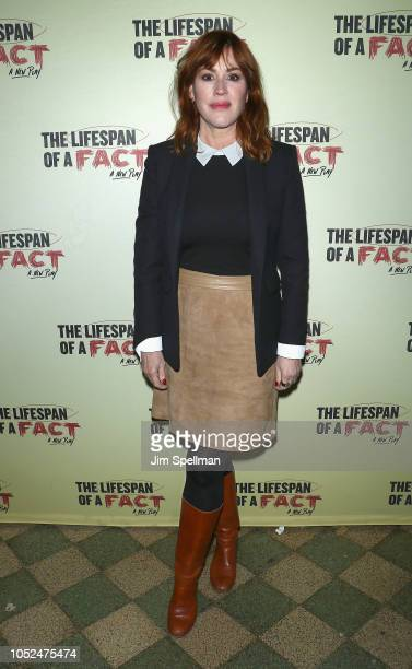 Actress Molly Ringwald attends The Lifespan Of A Fact opening night at Studio 54 on October 18 2018 in New York City