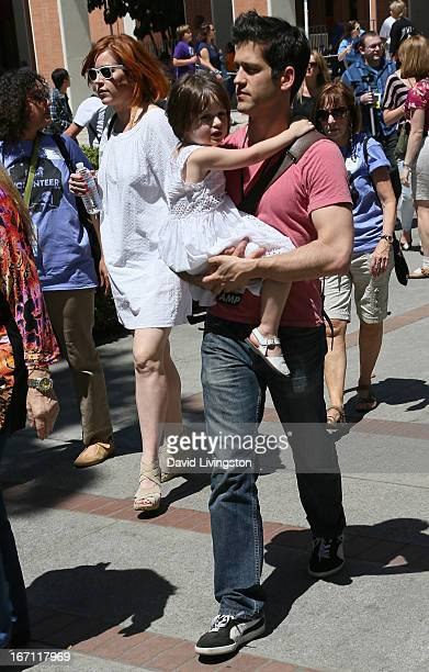 Actress Molly Ringwald daughter Adele Georgiana Gianopoulos and husband Panio Gianopoulos attend the 18th Annual Los Angeles Times Festival of Books...