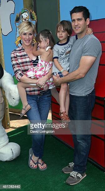 Actress Molly Ringwald daughter Adele Gianopoulos son Roman Gianopoulos and husband Panio Gianopoulos attend the Camp Snoopy's 30th Anniversary VIP...