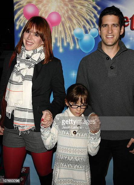 Actress Molly Ringwald husband Panio Gianopoulos and daughter Mathilda Gianopoulos attend Disney on Ice presents Let's Celebrate at LA LIVE on...