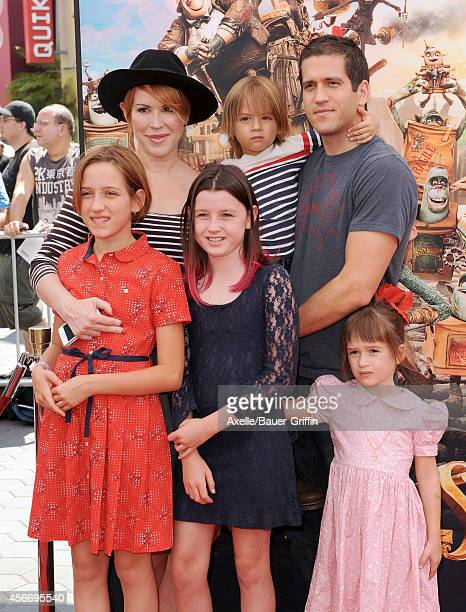 Actress Molly Ringwald husband Panio Gianopoulos daughters Mathilda Gianopoulos and Adele Gianopoulos and son Roman Gianopoulos attend the premiere...