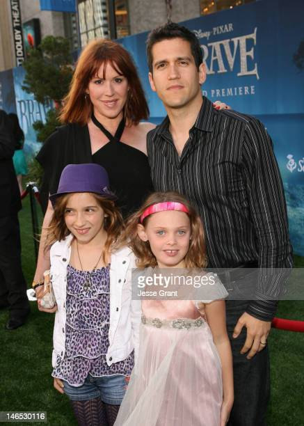 Actress Molly Ringwald Panio Gianopoulos and guests arrive at Film Independent's 2012 Los Angeles Film Festival Premiere of Disney Pixar's Brave at...