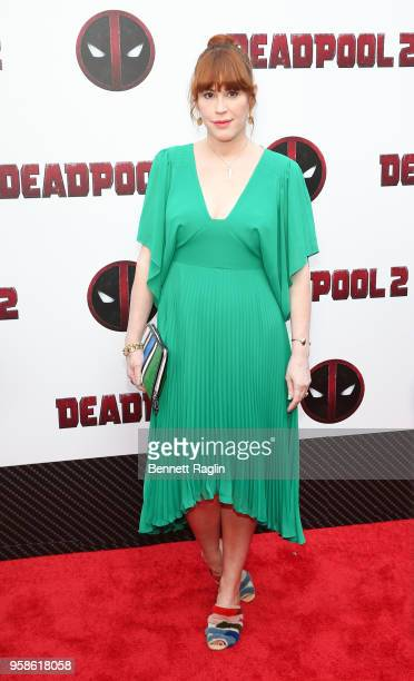 Actress Molly Ringwald poses for a picture during the Deadpool 2 New York Screening at AMC Loews Lincoln Square on May 14 2018 in New York City