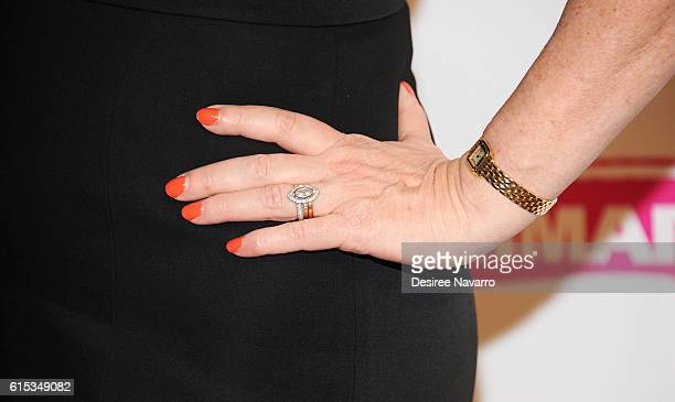 Actress Molly Ringwald ring detail attends Primary Stages 2016 Gala at 538 Park Avenue on October 17 2016 in New York City