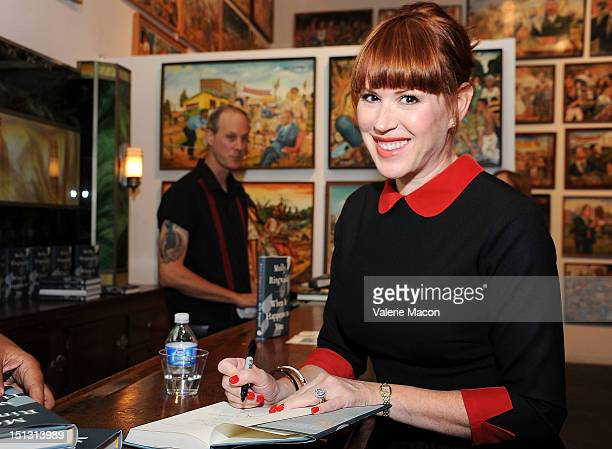 Actress Molly Ringwald signs her book at Live Talks Los Angeles: Molly Ringwald In Conversation With Meghan Daum at Bergamot Station on September 5,...