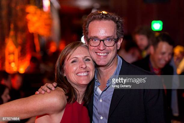 """Actress Molly Shannon and Producer Sam Bisbee attend the 2016 Outfest Los Angeles Closing Night Gala Of """"Other People"""" After Party at The Theatre at..."""