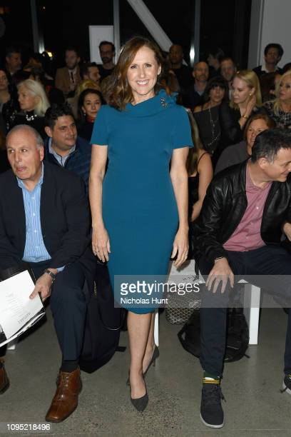 Actress Molly Shannon attends the Badgley Mischka front row during New York Fashion Week The Shows at Gallery I at Spring Studios on February 7 2019...