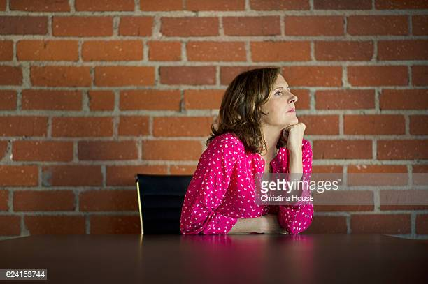 Actress Molly Shannon is photographed for Los Angeles Times on October 18 2016 in Los Angeles California