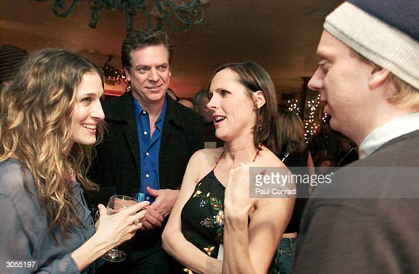 "Actress Molly Shannon is surrounded by ""Crackin Up"" creator Mike White, 20th Century Fox Television president Gary Newman, actor Chris McDonald, and..."