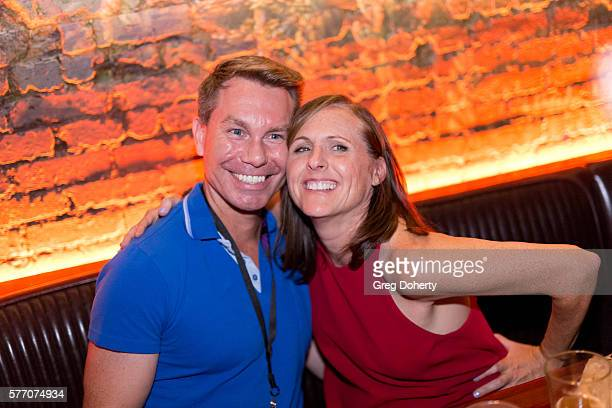 """Actress Molly Shannon poses for a picture with a guests at the 2016 Outfest Los Angeles Closing Night Gala Of """"Other People"""" After Party at The..."""