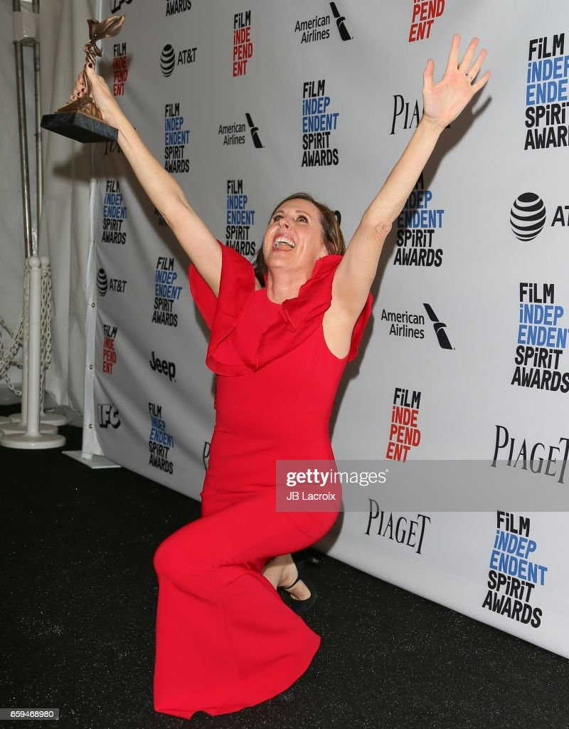 Actress Molly Shannon, winner of the Best Supporting Female award for 'Other People' poses in the press room during the 2017 Film Independent Spirit Awards on February 25, 2017 in Santa Monica, California.