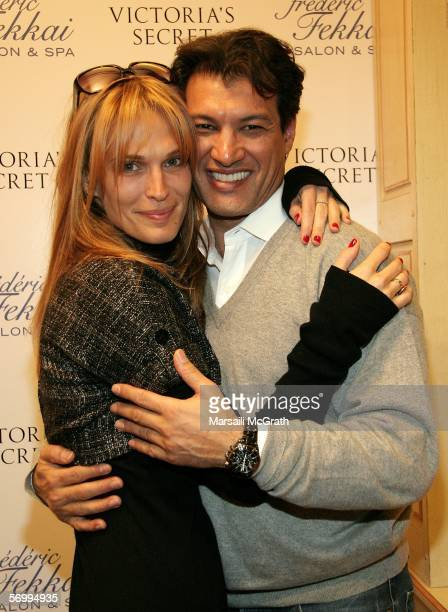 Actress Molly Sims and celebrity hair stylist Frederic Fekkai at the Frederic Fekkai and Victoria's Secret ''Beauty and the Boudoir'' Oscar Suite at...