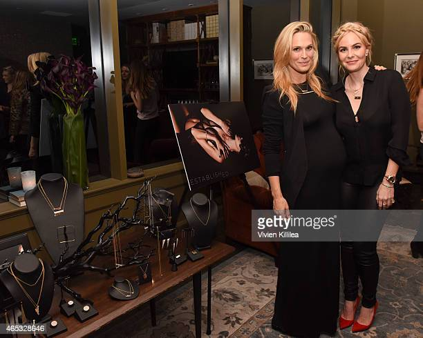 Actress Molly Sims and designer Nikki Erwin attend the Established Jewelry By Nikki Erwin Launch Party Hosted By Erin Sara Foster on March 5 2015 in...