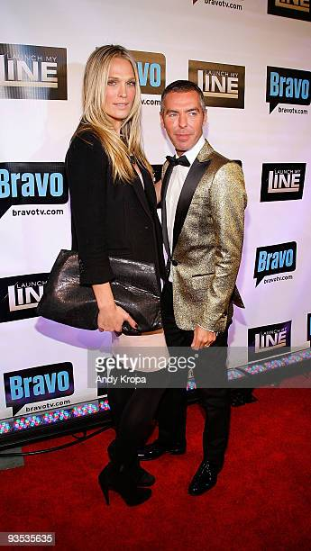 Actress Molly Sims and fashion designer Dean Caten of DSQUARED attend Bravo's Launch My Line premiere party at Avenue on December 1 2009 in New York...