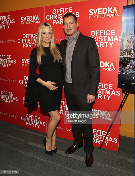 Actress Molly Sims and producer Scott Stuber attend Paramount Pictures with the Cinema Society Svedka host a screening of Office Christmas Party at...