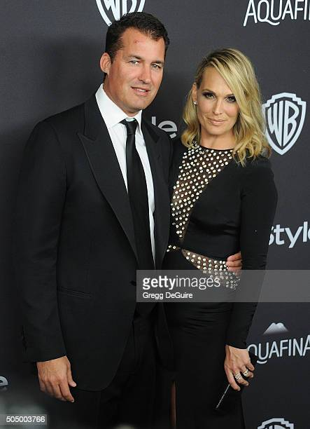 Actress Molly Sims and Scott Stuber arrive at the 2016 InStyle And Warner Bros 73rd Annual Golden Globe Awards PostParty at The Beverly Hilton Hotel...