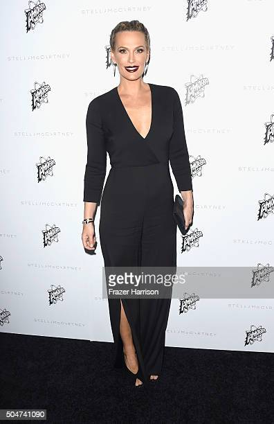 Actress Molly Sims arrives at Stella McCartney Autumn 2016 Presentation at Amoeba Music on January 12 2016 in Los Angeles California