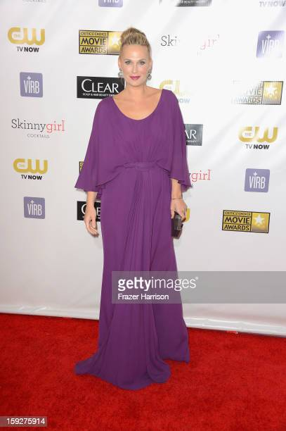Actress Molly Sims arrives at the 18th Annual Critics' Choice Movie Awards at Barker Hangar on January 10 2013 in Santa Monica California