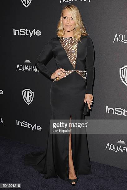Actress Molly Sims arrives at the 2016 InStyle And Warner Bros 73rd Annual Golden Globe Awards PostParty at The Beverly Hilton Hotel on January 10...