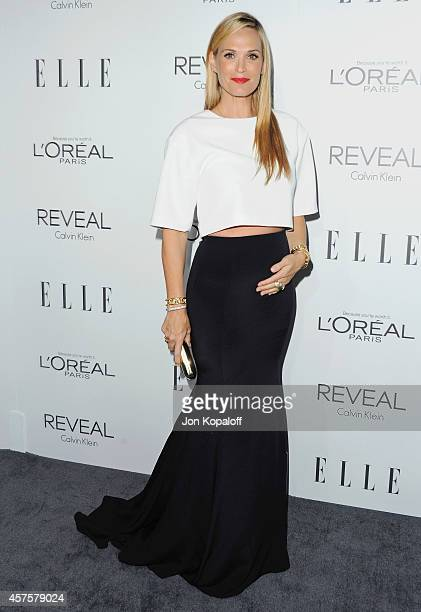 Actress Molly Sims arrives at the 21st Annual ELLE Women In Hollywood Awards at Four Seasons Hotel Los Angeles at Beverly Hills on October 20 2014 in...