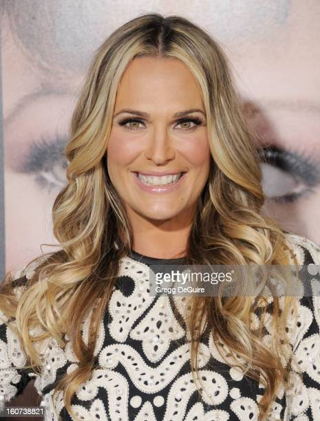 """Actress Molly Sims arrives at the """"Identity Thief"""" Los Angeles premiere at Mann Village Theatre on February 4, 2013 in Westwood, California."""