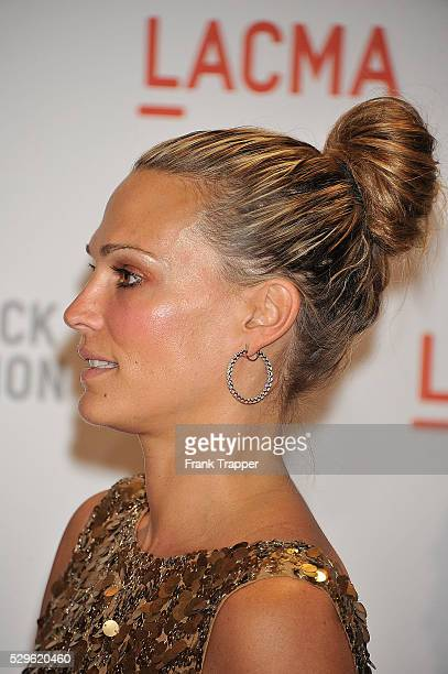 Actress Molly Sims arrives at the Los Angeles County Museum of Art Presents 'The Unmasking' The Lynda Stewart Resnick Exhibition Gala