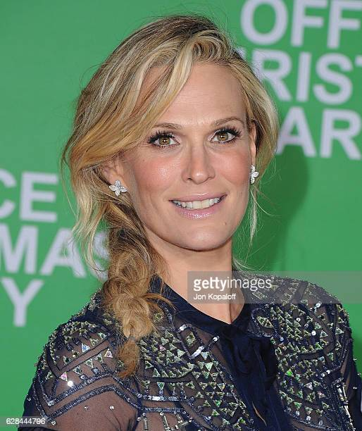 Actress Molly Sims arrives at the Los Angeles Premiere 'Office Christmas Party' at Regency Village Theatre on December 7 2016 in Westwood California