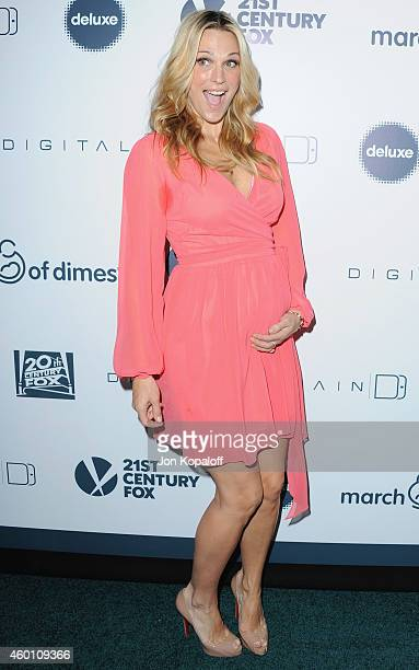 Actress Molly Sims arrives at the March Of Dimes' Celebration Of Babies at Regent Beverly Wilshire Hotel on December 5 2014 in Beverly Hills...