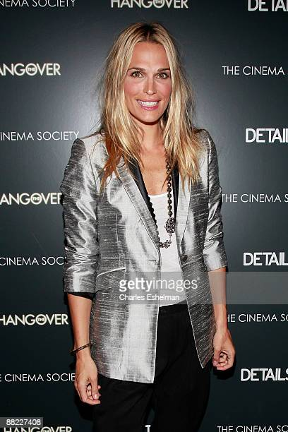 Actress Molly Sims attends a screening of The Hangover hosted by the Cinema Society and Details at the Tribeca Grand Screening Room on June 4 2009 in...