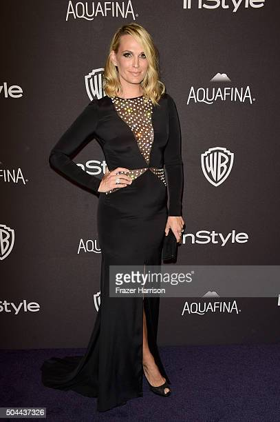 Actress Molly Sims attends InStyle and Warner Bros 73rd Annual Golden Globe Awards PostParty at The Beverly Hilton Hotel on January 10 2016 in...