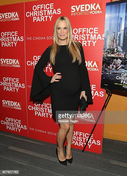 Actress Molly Sims attends Paramount Pictures with the Cinema Society Svedka host a screening of Office Christmas Party at Landmark Sunshine Cinema...