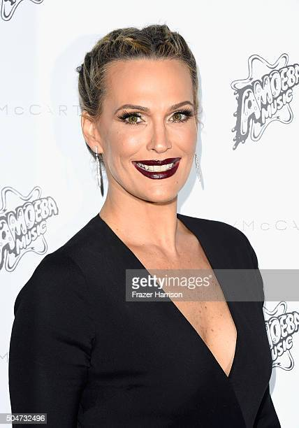 Actress Molly Sims attends Stella McCartney Autumn 2016 Presentation at Amoeba Music on January 12 2016 in Los Angeles California