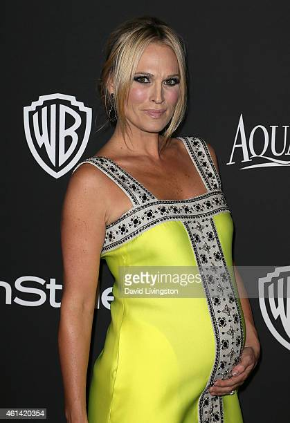 Actress Molly Sims attends the 2015 InStyle and Warner Bros 72nd Annual Golden Globe Awards PostParty at The Beverly Hilton Hotel on January 11 2015...