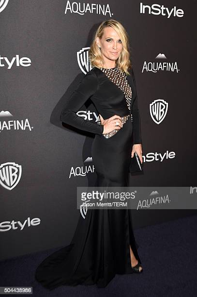 Actress Molly Sims attends The 2016 InStyle And Warner Bros. 73rd Annual Golden Globe Awards Post-Party at The Beverly Hilton Hotel on January 10,...