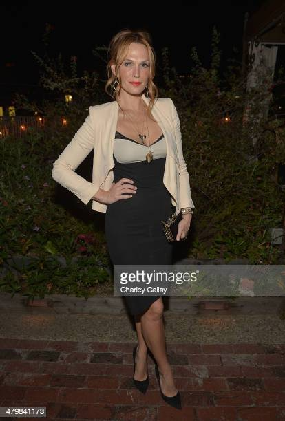Actress Molly Sims attends the Carmella Dinner hosted by Margot Robbie and Cristina Ehrlich at Petit Ermitage Hotel on March 20 2014 in West...