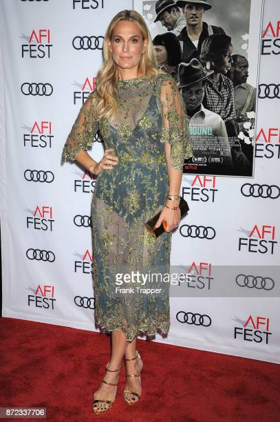 Actress Molly Sims attends the screening of Netflix's Mudbound at the Opening Night Gala of AFI FEST 2017 Presented By Audi at TCL Chinese Theatre on...