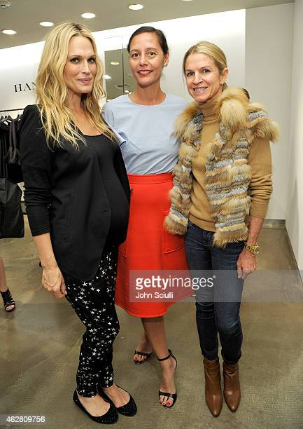 Actress Molly Sims Marlien Rentmeester and Crystal Lourd attend the Mary Alice Haney private event at Saks Fifth Avenue Beverly Hills on February 5...
