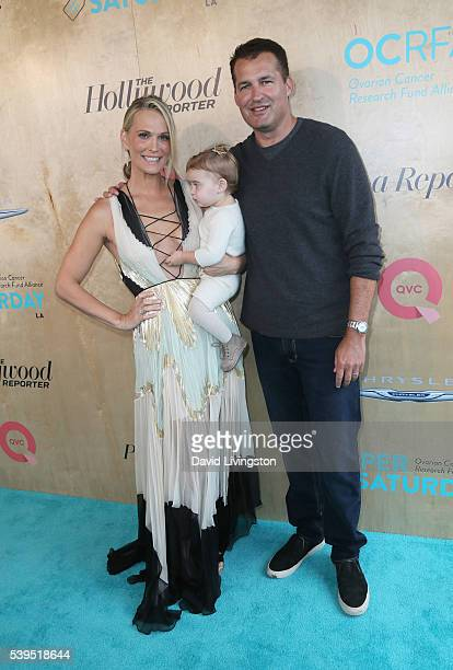 Actress Molly Sims Scarlett Stuber and producer Scott Stuber attend the Ovarian Cancer Research Fund Alliance's 3rd Annual Super Saturday Los Angeles...