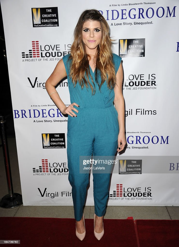 Actress Molly Tarlov attends the premiere of 'Bridegroom' at AMPAS Samuel Goldwyn Theater on October 15, 2013 in Beverly Hills, California.