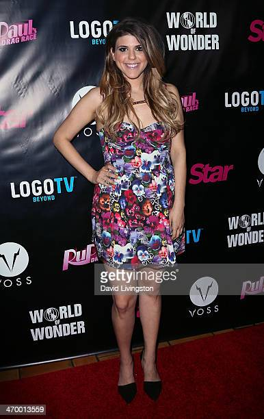 Actress Molly Tarlov attends the 'RuPaul's Drag Race' Season 6 premiere party at The Roosevelt Hotel on February 17 2014 in Hollywood California