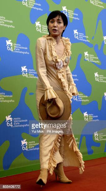 Actress Momoi Kaori during a photocall for the film 'Sukiyaki Western Django' at the Venice Film Festival in Venice Italy