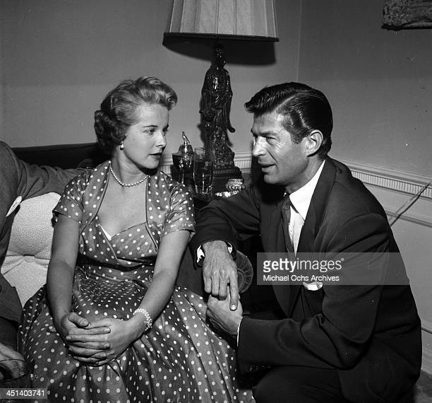 Actress Mona Freeman and George Nader in Los Angeles California