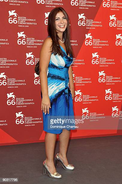 """Actress Mona Zaki attends the """"Scheherazade, Tell Me A Story"""" Photocall at the Palazzo del Casino during the 66th Venice International Film Festival..."""