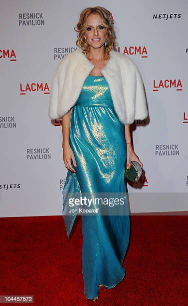 Actress Monet Mazur arrives at LACMA Presents The Unmasking Of Resnick Pavilion Opening Gala at LACMA on September 25 2010 in Los Angeles California