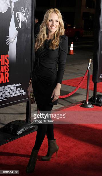 Actress Monet Mazur arrives at This Means War Los Angeles Premiere at Grauman's Chinese Theatre on February 8 2012 in Hollywood California