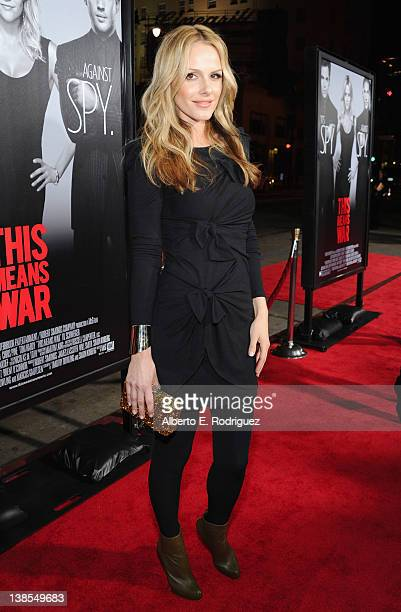 Actress Monet Mazur attends the premiere of Twentieth Century Fox's This Means War held at Grauman's Chinese Theatre on February 8 2012 in Hollywood...