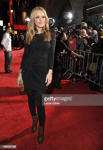 Actress Monet Mazur attends the This Means War Los Angeles premiere held at Grauman's Chinese Theatre on February 8 2012 in Hollywood California
