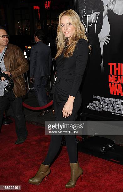 Actress Monet Mazur attends the 'This Means War' Los Angeles premiere held at Grauman's Chinese Theatre on February 8 2012 in Hollywood California
