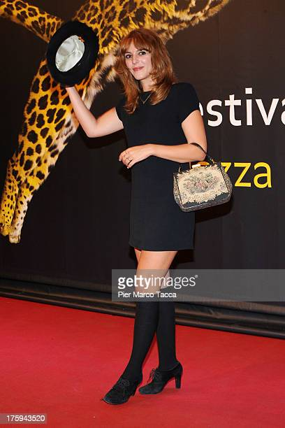 Actress Monia Chokri attends a photocall during the 66th Locarno Film Festival on August 10 2013 in Locarno Switzerland