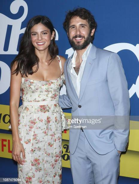 Actress Monica Barbaro and actor/singer Josh Groban attend the The Good Cop Season 1 premiere at AMC 34th Street on September 21 2018 in New York City
